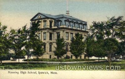 Manning High School - Ipswich, Massachusetts MA Postcard