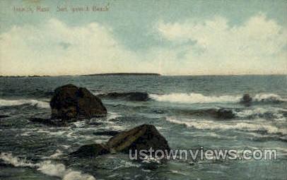 Ipswich Beach - Massachusetts MA Postcard