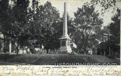 Soldiers Monument - Ipswich, Massachusetts MA Postcard