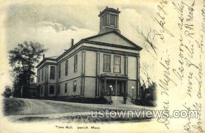 Town Hall - Ipswich, Massachusetts MA Postcard