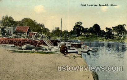 Boat Landing - Ipswich, Massachusetts MA Postcard