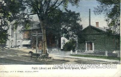 Public Library, Main Street - Ipswich, Massachusetts MA Postcard