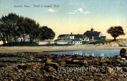 Hotel, Ipswich Bluff - Massachusetts MA Postcard
