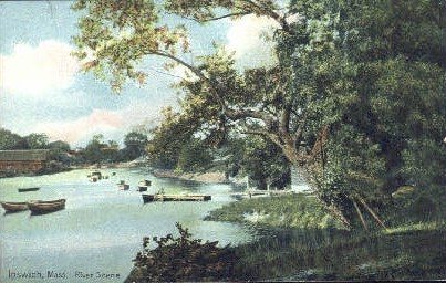 River - Ipswich, Massachusetts MA Postcard