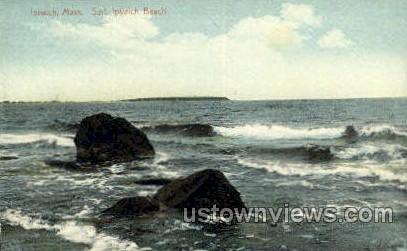 Surf, Ipswich Beach - Massachusetts MA Postcard