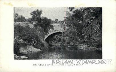 Stone Bridge - Ipswich, Massachusetts MA Postcard