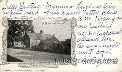 Major John Whipple Place, 1636 - Ipswich, Massachusetts MA Postcard