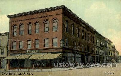 Tyler Block - Ipswich, Massachusetts MA Postcard