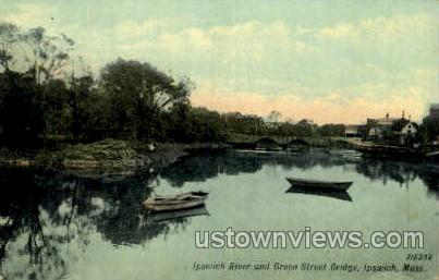 Green Street Bridge - Ipswich, Massachusetts MA Postcard