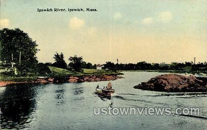 Ipswich River - Massachusetts MA Postcard