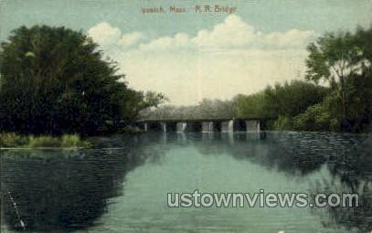 R.R. Bridge - Ipswich, Massachusetts MA Postcard