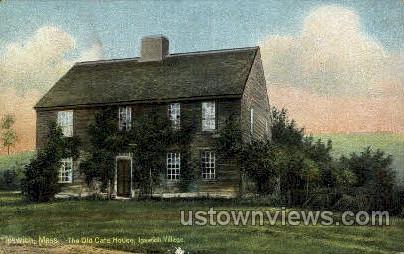 Old Cate House - Ipswich, Massachusetts MA Postcard