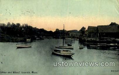 Harbor & Wharf - Ipswich, Massachusetts MA Postcard