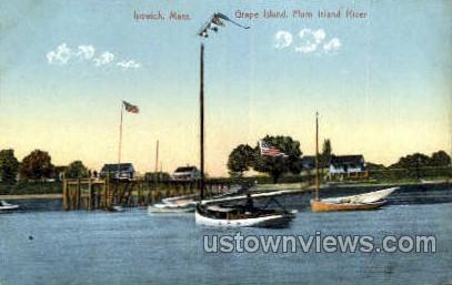 Grape Island, Plum Island River - Ipswich, Massachusetts MA Postcard