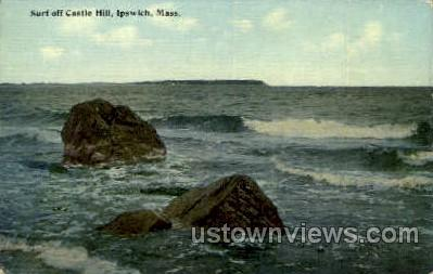 Surf, Castle Hill - Ipswich, Massachusetts MA Postcard