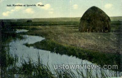 Salt Marshes - Ipswich, Massachusetts MA Postcard