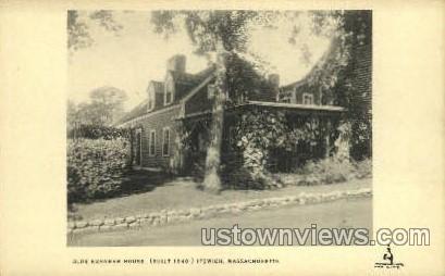 Olde Burnham House, 1640 - Ipswich, Massachusetts MA Postcard