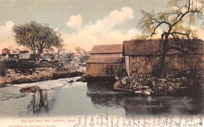 The Old Saw Mill Ipswich, Massachusetts Postcard