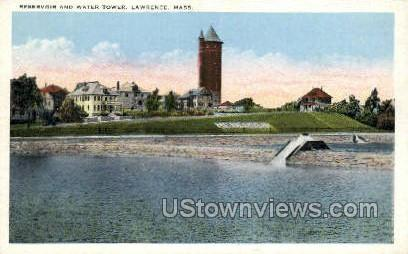 Reservoir & Water Tower - Lawrence, Massachusetts MA Postcard