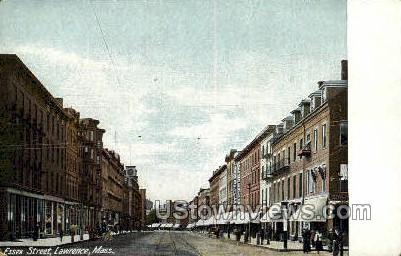 Essex Street - Lawrence, Massachusetts MA Postcard