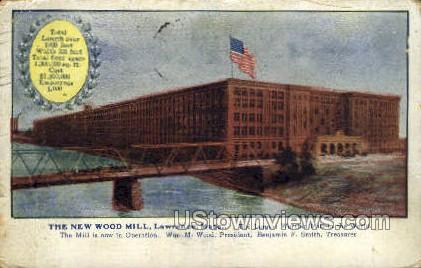New Wood Mill - Lawrence, Massachusetts MA Postcard