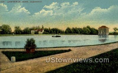 Reservoir - Lawrence, Massachusetts MA Postcard