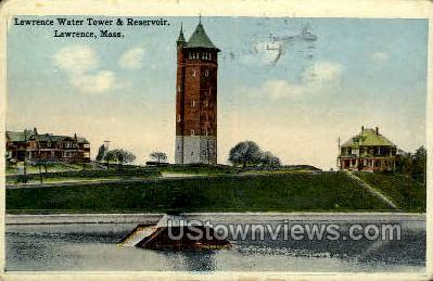 Lawrence Water Tower & Reservoir - Massachusetts MA Postcard