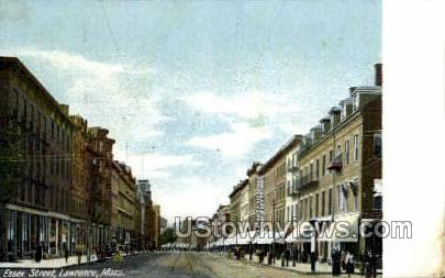Essex Street - Lawrence, Massachusetts MA Postcard