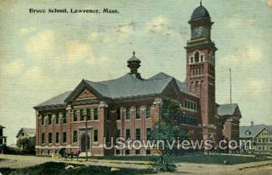 Bruce School - Lawrence, Massachusetts MA Postcard