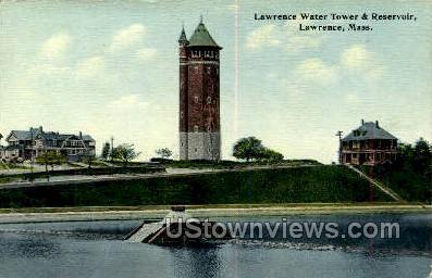 Lawrence Water Tower & Reservoir - Massachusetts MA Postcard