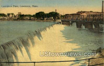 Lawrence Dam - Massachusetts MA Postcard