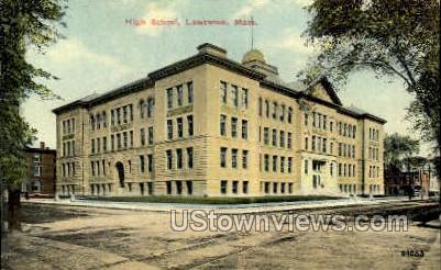Lawrence High School - Massachusetts MA Postcard