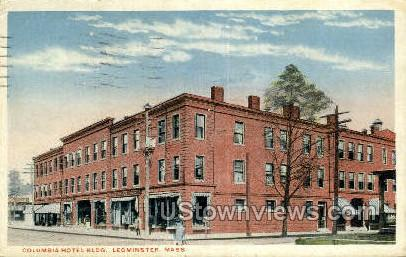 Columbia Hotel Bldg - Leominster, Massachusetts MA Postcard