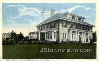 Residence of E. B. Richardson - Leominster, Massachusetts MA Postcard