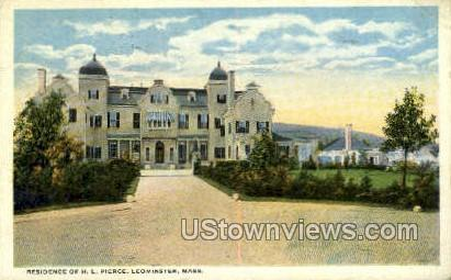 Residence of H L Pierce - Leominster, Massachusetts MA Postcard