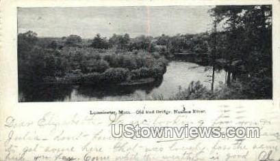 Old Red Bridge, Nashua River - Leominster, Massachusetts MA Postcard