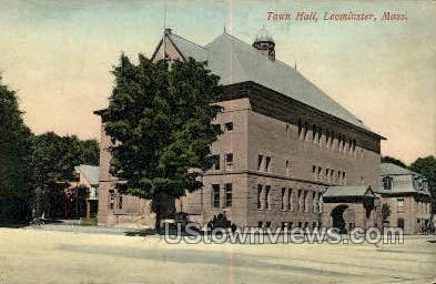 Town Hall - Leominster, Massachusetts MA Postcard