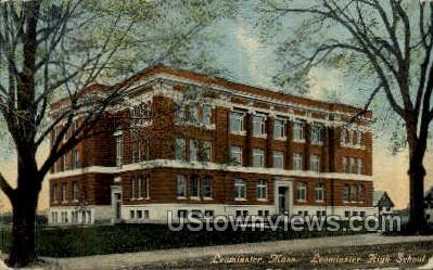 Leominster High School - Massachusetts MA Postcard
