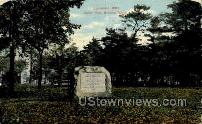 Memorial Stone, Carter Park - Leominster, Massachusetts MA Postcard