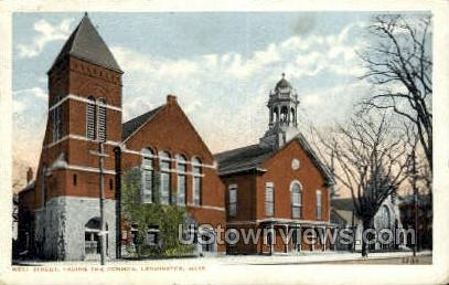 West St., The Common - Leominster, Massachusetts MA Postcard