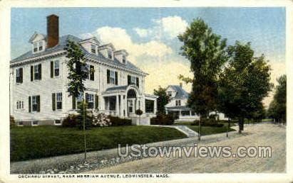 Orchard St, Merriam Ave - Leominster, Massachusetts MA Postcard