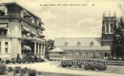 St. Leos Church & Parish - Leominster, Massachusetts MA Postcard