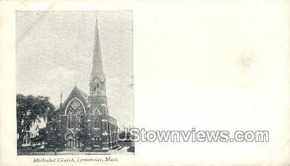 Methodist Church, Leominster - Massachusetts MA Postcard