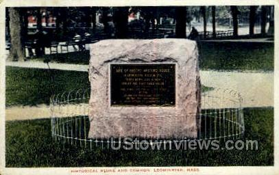 Stone & Common - Leominster, Massachusetts MA Postcard