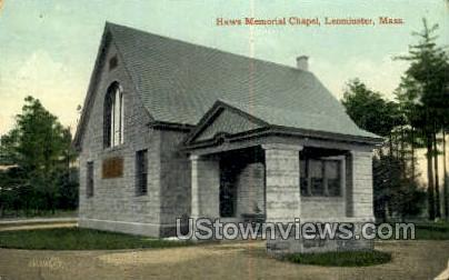 Haws Memorial Chapel - Leominster, Massachusetts MA Postcard
