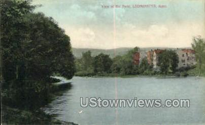 The Pond - Leominster, Massachusetts MA Postcard