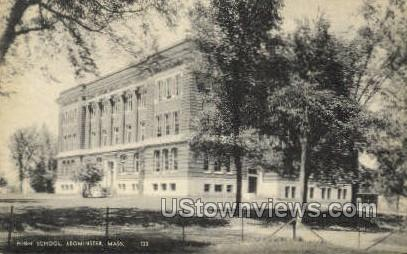 High School, Leominster - Massachusetts MA Postcard