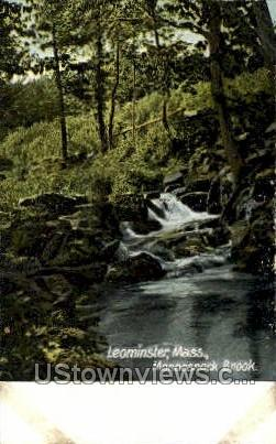Monoosnock Brook - Leominster, Massachusetts MA Postcard