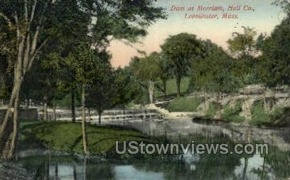 Dam at Merriam Hall - Leominster, Massachusetts MA Postcard