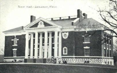 Town Hall - Lancaster, Massachusetts MA Postcard